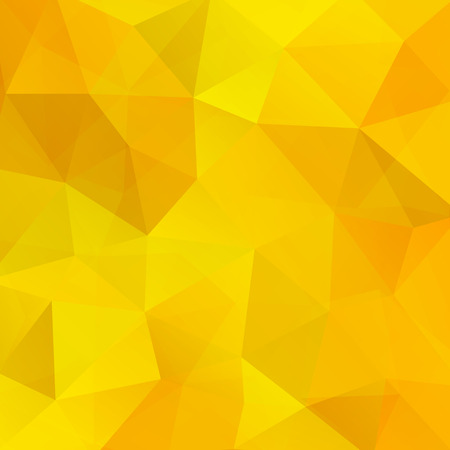 Background made of yellow triangles. Square composition with geometric shapes.