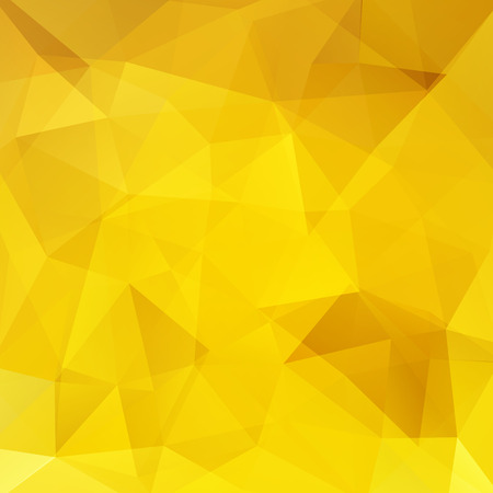 Abstract background consisting of yellow triangles. Geometric design for business presentations or web template banner flyer. Vector illustration 版權商用圖片 - 120608888