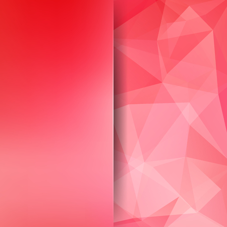 Geometric pattern, polygon triangles vector background in pink tones. Blur background with glass. Illustration pattern