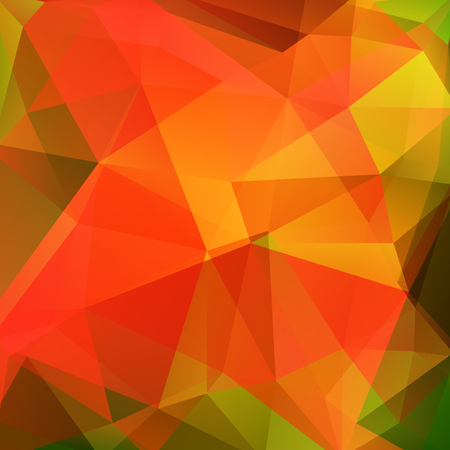 Orange polygonal vector background. Can be used in cover design, book design, website background. Vector illustration Vector Illustratie