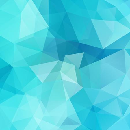 Blauer Hintergrund der abstrakten geometrischen Art. Vektor-Illustration
