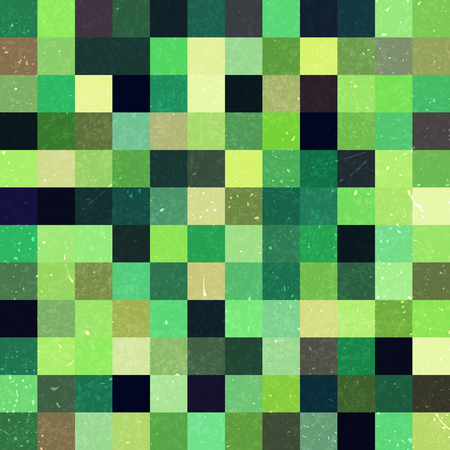 Green seamless geometric checked pattern. Ideal for printing onto fabric and paper or decoration.