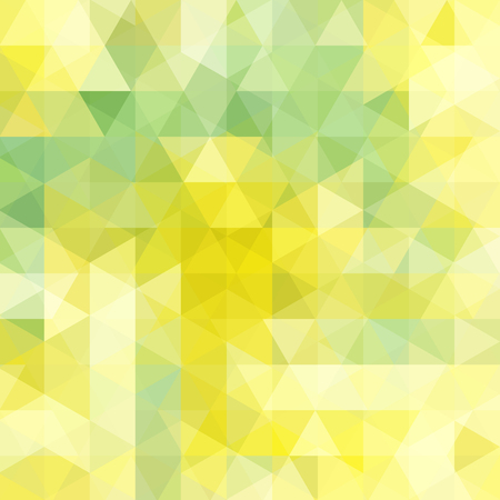 Triangle vector background. Can be used in cover design, book design, website background. Vector illustration. Yellow, green colors.
