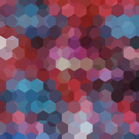 Geometric pattern, vector background with hexagons in brown, blue tones. Illustration pattern