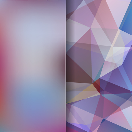 Polygonal vector background. Blur background. Can be used in cover design, book design, website background. Vector illustration. Purple, brown colors. Illustration