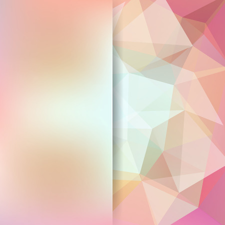 Abstract background consisting of beige, pink triangles. Geometric design for business presentations or web template banner flyer. Vector illustration