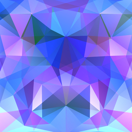 Abstract background consisting of blue, purple triangles. Geometric design for business presentations or web template banner flyer. Vector illustration