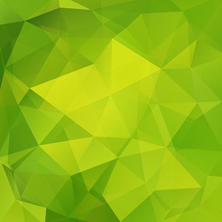 Abstrakter Hintergrund bestehend aus grünen Dreiecken. Geometrisches Design für Geschäftspräsentationen oder Webvorlagen-Banner-Flyer. Vektorillustration