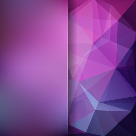 Abstract background consisting of pink, purple triangles. Geometric design for business presentations or web template banner flyer. Vector illustration Ilustrace