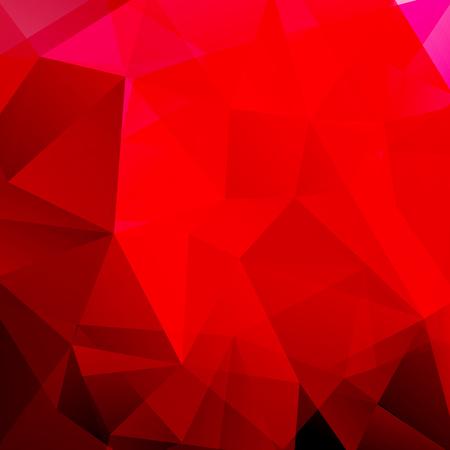 Red polygonal vector background. Can be used in cover design, book design, website background. Vector illustration Ilustração Vetorial