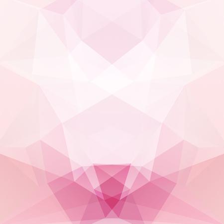 Tło wykonane z pastelowych różowych, białych trójkątów. Kwadratowa kompozycja o geometrycznych kształtach.