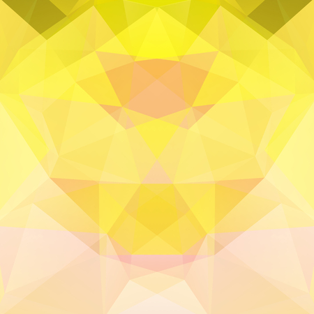 Geometric pattern, polygon triangles vector background in yellow, beige tones. Illustration pattern