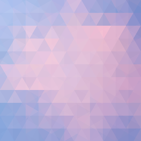 Geometric pattern, triangles vector background in pastel pink, blue tones. Illustration pattern Illustration