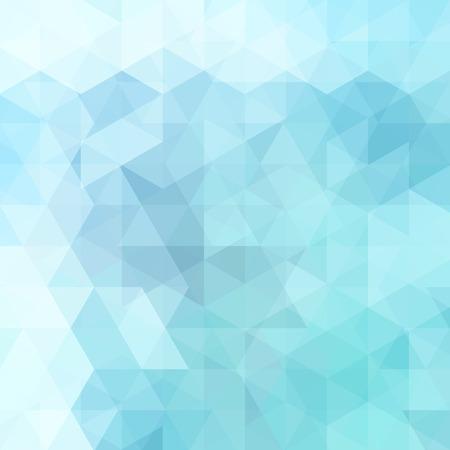 Sfondo astratto costituito da triangoli blu pastello. Design geometrico per presentazioni aziendali o volantino banner modello web. Illustrazione vettoriale Vettoriali