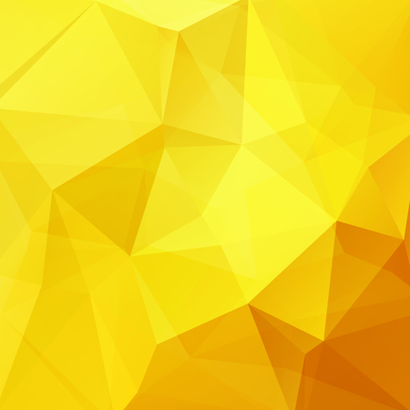 Yellow polygonal vector background. Can be used in cover design, book design, website background. Vector illustration Illustration