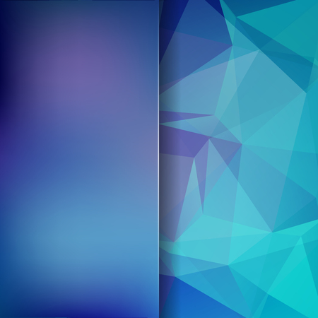 Polygonal vector background. Blur background. Can be used in cover design, book design, website background. Vector illustration. Blue, purple colors.