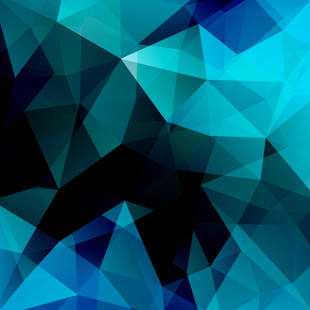 Abstract background consisting of blue, black triangles. Geometric design for business presentations or web template banner flyer. Vector illustration