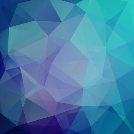Achtergrond van geometrische vormen. Blauw mozaïekpatroon. vector illustratie Vector Illustratie
