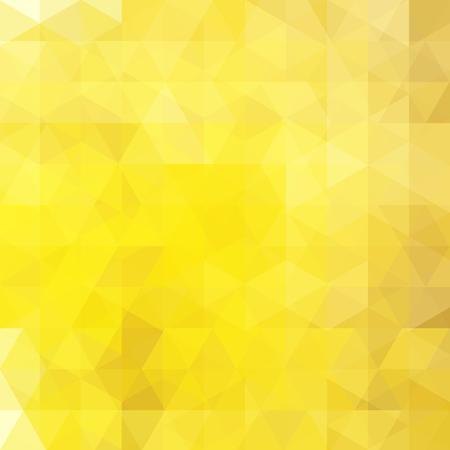 Fond de mosaïque abstraite jaune. Fond géométrique triangulaire. Éléments de design. Illustration vectorielle