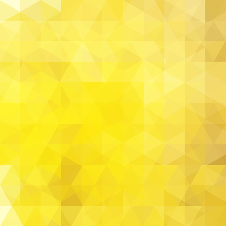 Yellow abstract mosaic background. Triangle geometric background. Design elements. Vector illustration