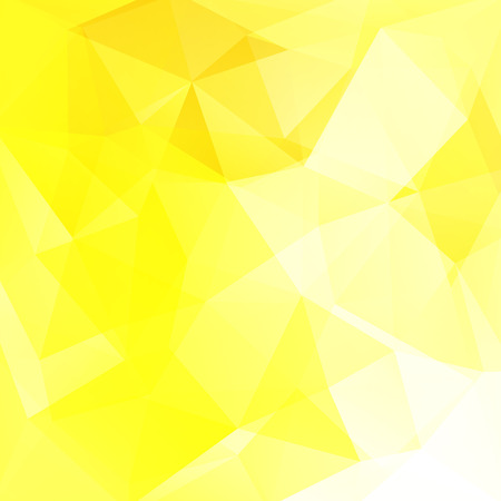 Background of geometric shapes. Yellow mosaic pattern. Vector illustration