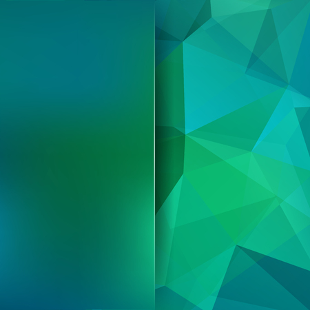 Polygonal vector background. Blur background. Can be used in cover design, book design, website background. Vector illustration. Green, blue colors.