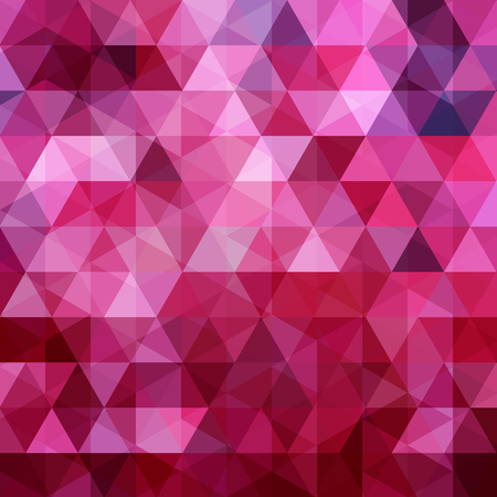 Geometric pattern, triangles vector background in pink, purple tones. Illustration pattern