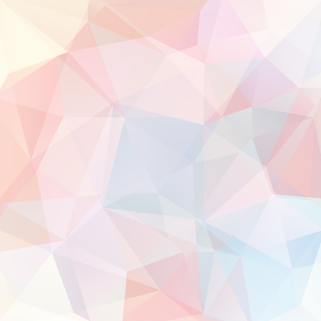 Geometric pattern, polygon triangles vector background in pastel pink, yellow, blue, white tones. Illustration pattern