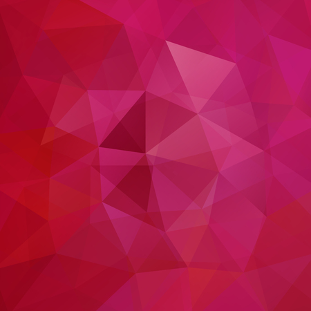 Background of geometric shapes. Red mosaic pattern. Vector illustration