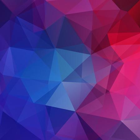 Polygonaler Vektorhintergrund. Kann im Cover-Design, Buchdesign, Website-Hintergrund verwendet werden. Vektor-Illustration. Rosa, lila, blaue Farben.