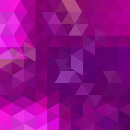 Abstract pink mosaic background. Triangle geometric background. Design elements. Vector illustration Illustration
