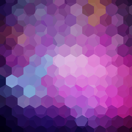 Background of geometric shapes. Purple mosaic pattern. Vector illustration Иллюстрация