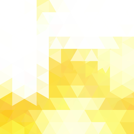 Geometric pattern, triangles vector background in yellow, white tones. Illustration pattern Illustration
