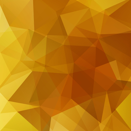 Background of orange, yellow geometric shapes. Mosaic pattern. Vector illustration
