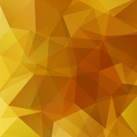 Fond de formes géométriques oranges, jaunes. Motif mosaïque. Illustration vectorielle