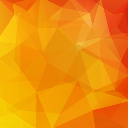 Abstract background consisting of yellow, orange triangles. Geometric design for business presentations or web template banner flyer. Vector illustration Vector Illustration