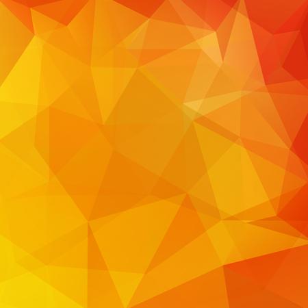 Fondo abstracto que consta de triángulos amarillos, naranjas. Diseño geométrico para presentaciones de negocios o flyer de banner de plantilla web. Ilustración vectorial Ilustración de vector