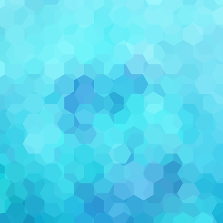 Abstract hexagons vector background. Blue geometric vector illustration. Creative design template.