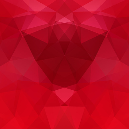 Abstract background consisting of red triangles. Geometric design for business presentations or web template banner flyer. Vector illustration Ilustrace