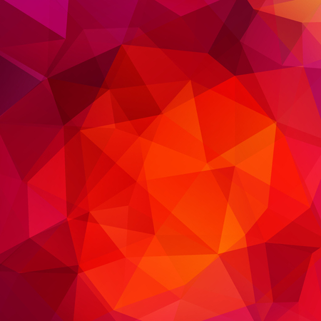 Abstract mosaic background. Triangle geometric background. Design elements. Vector illustration. Red, orange colors.