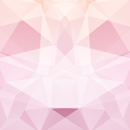 Background of geometric shapes. Pastel pink mosaic pattern. Vector illustration Ilustrace