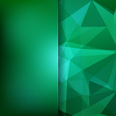 Green polygonal vector background. Blur background. Can be used in cover design, book design, website background. Vector illustration