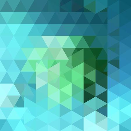 Priorità bassa di vettore del triangolo. Può essere utilizzato nel design della copertina, nel design del libro, nello sfondo del sito web. Illustrazione vettoriale. Colori verdi, blu.