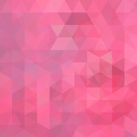 Abstract mosaic background. Triangle geometric background. Design elements. Vector illustration. pastel pink color.