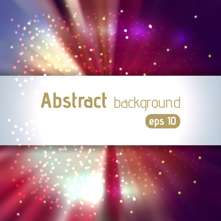 Background with light rays. Abstract background. Vector illustration. Purple, brown colors.