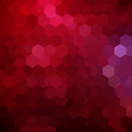 Background made of red hexagons. Square composition with geometric shapes. Eps 10