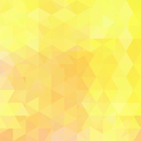 Abstrakter Vektorhintergrund mit Dreiecken. Gelbe geometrische Vektorillustration. Kreative Designvorlage. Vektorgrafik