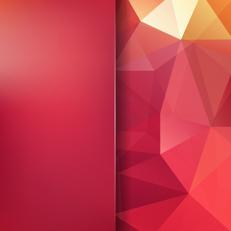 Abstract red mosaic background. Blur background. Triangle geometric background. Design elements. Vector illustration