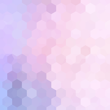 Abstract background consisting of pink, white hexagons. Geometric design for business presentations or web template banner flyer. Vector illustration  イラスト・ベクター素材