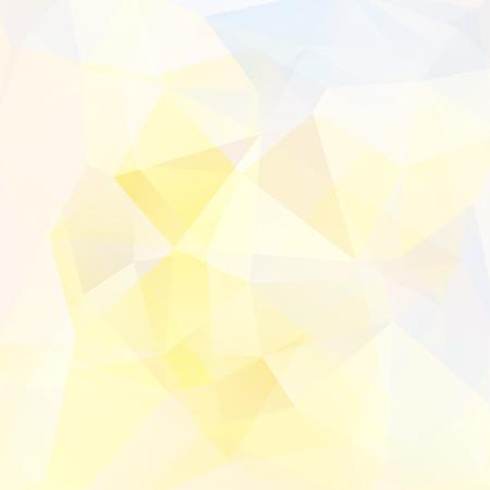 Fondo abstracto formado por triángulos amarillos y blancos. Diseño geométrico para presentaciones de negocios o flyer de banner de plantilla web. Ilustración vectorial